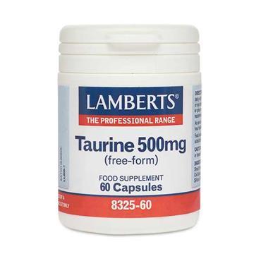 Lamberts Taurine 500mg (Free-Form) 60 Capsules