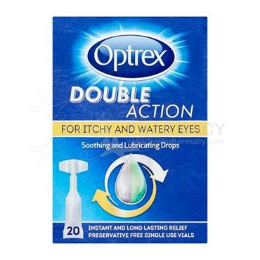 Optrex Double Action Drops For Itchy & Watery Eyes 20 X 0.5ml