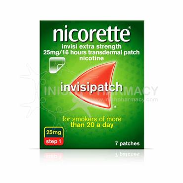 Nicorette Invisi Extra Strength 25mg Step 1 Patches 7 Pack