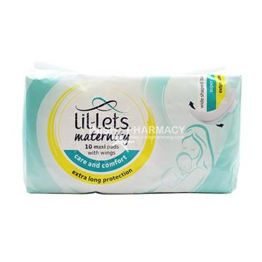 Lil-lets Maternity Maxi Pads with Wings 10 Pack