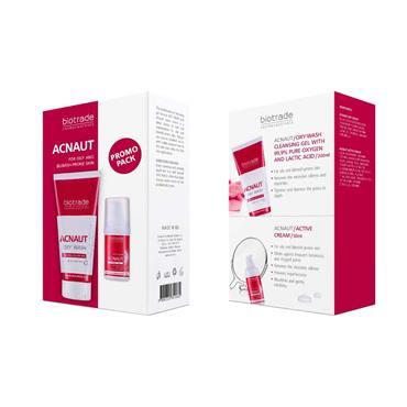 Biotrade Acnaut 2 Piece Set - Oxy Wash Cleansing Gel & Active Cream
