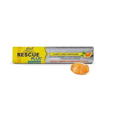 Bach Rescue Plus Lozenges Orange & Elderflower Flavour 10 Pack