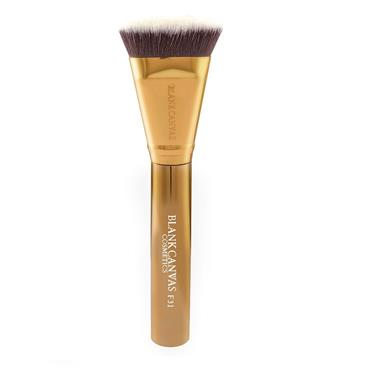 Blank Canvas Cosmetics Dimension Series F31 Metallic Gold Handle Targeted Contour Brush