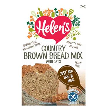 Helens Gluten Free Country Brown Bread Mix With Oats 265g