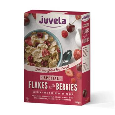 Juvela Gluten Free Special Flakes Red Berries 300g