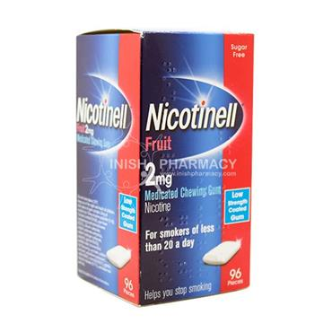 Nicotinell 2mg Fruit Gum 96 Pack
