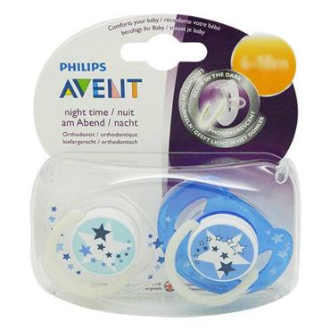 Avent Night Time SilIcone Soothers