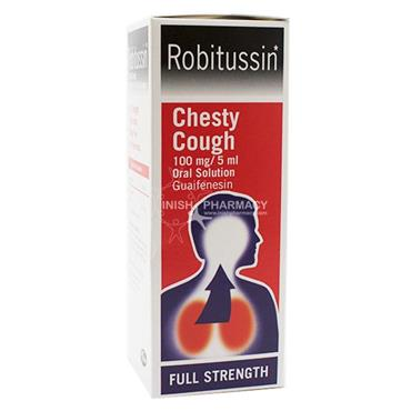 Robitussin Chesty Cough 100mg/5ml Guaifenesin Oral Solution 100ml