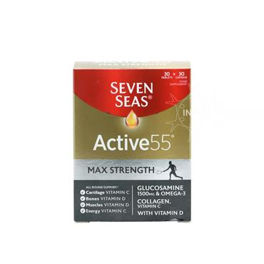 Seven Seas Active 55 Max Strength 1500mg Glucosamine 30 Tablets & 30 Capsules