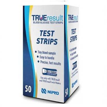 True Result Blood Glucose Test Strips 50
