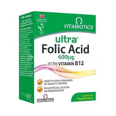 Vitabiotics Ultra Folic Acid 400ug 60 Tablets