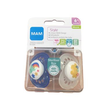 MAM STYLE SILICONE 6 M + SOOTHER
