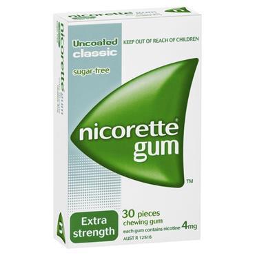 NICORETTE NICORETTE ORIGINAL GUM 4MG (30 PIECES)