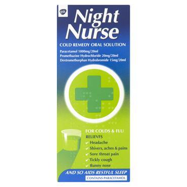 NIGHT NURSE COLD REMEDY ORAL SOLUTION 160ML