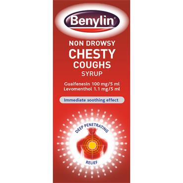 BENYLIN NON-DROWSY CHESTY COUGHS SYRUP 125ML