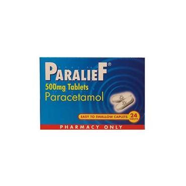 PARALIEF 500MG TABLETS PARACETAMOL 24 PACK