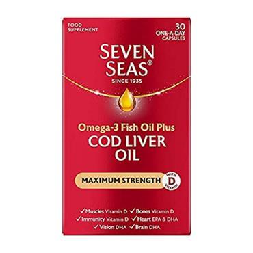 SEVEN SEAS COD LIVER OIL MAXIMUM STRENGTH 30 CAPSULES