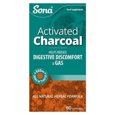 SONA SONA ACTIVATED CHARCOAL CAPSULES 60 PACK