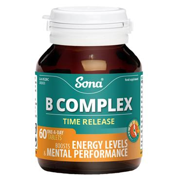 SONA SONA B COMPLEX TIME RELEASE 60 TABLETS