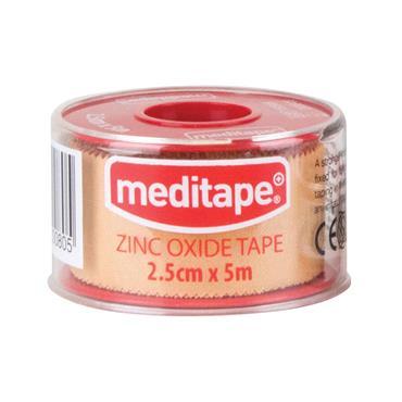 MEDITAPE ZINC OXIDE ADHESIVE TAPE 2.5CMX5M