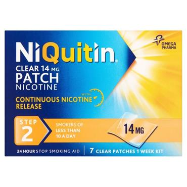 NIQUITIN NIQUITIN CLEAR STEP 2 14MG 7 PATCHES