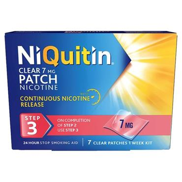NIQUITIN NIQUITIN CLEAR STEP 3 7MG 7 PATCHES