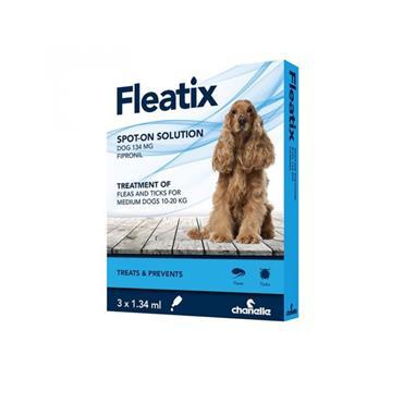 FLEATIX SPOT ON SOLUTION DOGS 134MG 10-20KG