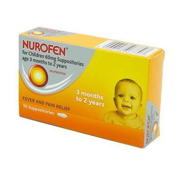 NUROFEN NUROFEN FOR CHILDREN 60MG SUPPOSITORIES 10 PACK