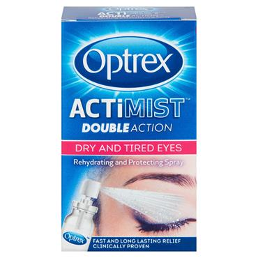 OPTREX ACTIMIST DOUBLE ACTION DRY AND TIRED EYES SPRAY 10ML
