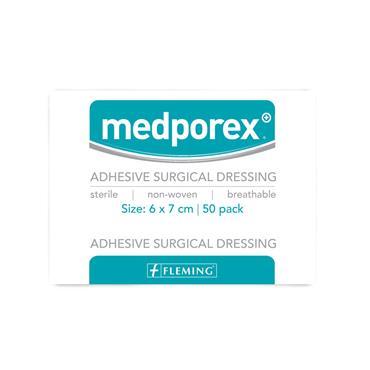 MEDPOREX ADHESIVE SURGICAL DRESSING 6 X 7CM