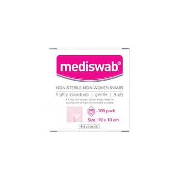 MEDISWAB SWABS 10X10CM