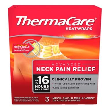 THERMACARE HEATWRAPS NECK SHOULDER & WRIST 3 PACK