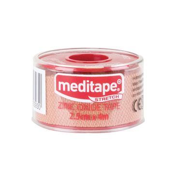 MEDITAPE ZINC OXIDE TAPE STRETCH 2.5CM X 4M