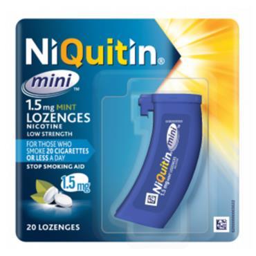 NIQUITIN NIQUITIN MINI 1.5MG MINT LOZENGES 20 PACK