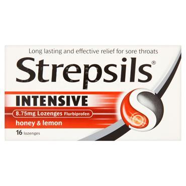 STREPSILS INTENSIVE HONEY & LEMON LOZENGES