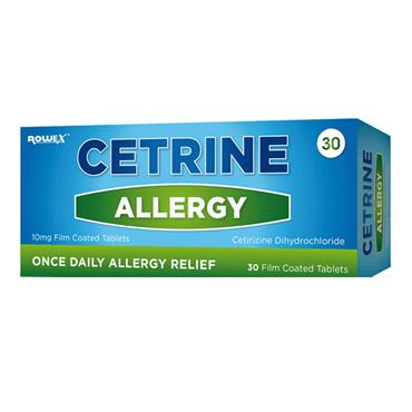 CETRINE CETRINE HAYFEVER ALLERGY RELIEF 10MG CETIRIZINE TABLETS