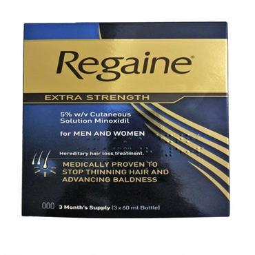 REGAINE EXTRA STRENGTH FOR MEN & WOMEN (3 X 60ML BOTTLE)
