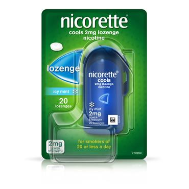 NICORETTE NICORETTE COOLS ICY MINT LOZENGE 2MG 20 PACK