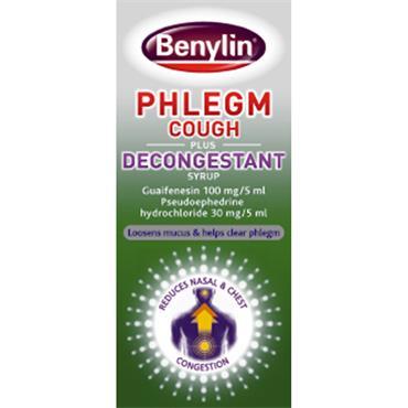 BENYLIN PHLEGM COUGH PLUS DECONGESTANT 100ML PH ONLY