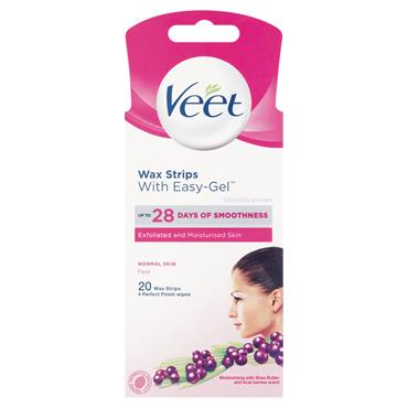 VEET FACE READY TO USE WAX STRIPS