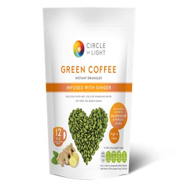 CIRCLE OF LIGHT GREEN COFFEE INFUSED WITH GINGER 200G