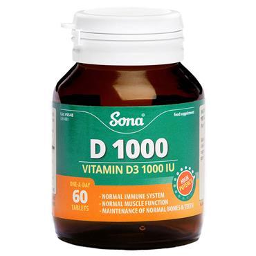 SONA SONA VITAMIN D3 1000IU 60 PACK