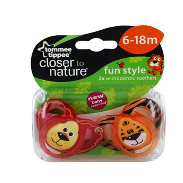 TOMMEE TIPPEE FUN STYLE SOOTHER 6-18 MONTHS