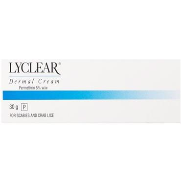 LYCLEAR DERMAL CREAM FOR SCABIES & CRAB LICE 30G