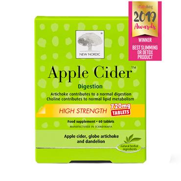 NEW NORDIC APPLE CIDER HIGH STRENGTH 720MG 60 TABLETS