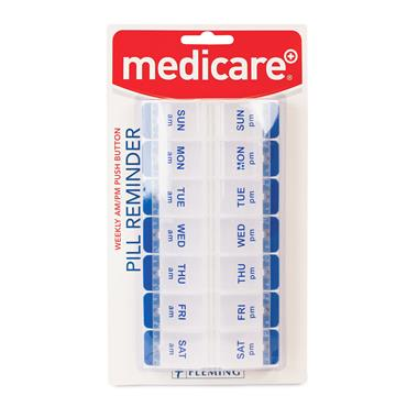 MEDICARE WEEKLY AM / PM PUSH BUTTON PILL REMINDER