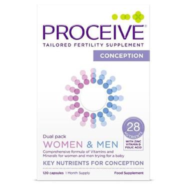 PROCEIVE PROCEIVE CONCEPTION DUAL PACK WOMEN & MEN 120 CAPSULES