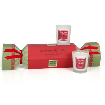 BROOKE & SHOALS CRACKER CINNAMON & CEDAR 2 CANDLES