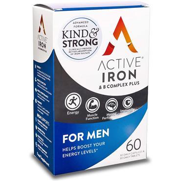 ACTIVE IRON & B COMPLEX PLUS FOR MEN 60 CAPSULES