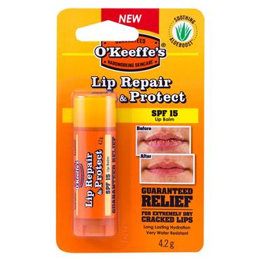 O'KEEFFE'S SPF15 LIP BALM REPAIR AND PROTECT STICK 4.2G